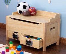 Mobilier en bois pour chambre d 39 enfant - Meuble rangement jouet enfant ...