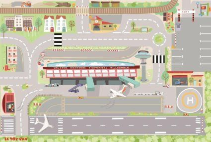 Tapis de jeux - mon premier aéroport
