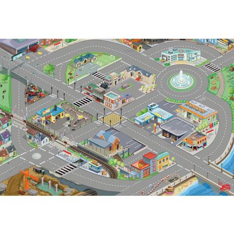 Tapis de jeux routes et ville - medium