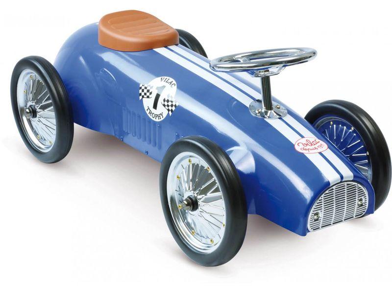 Porteur voiture de course bleu