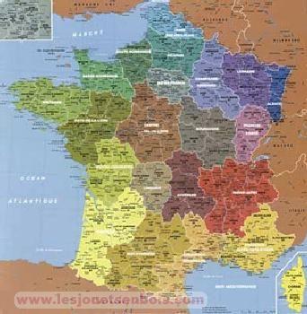 Carte de france région