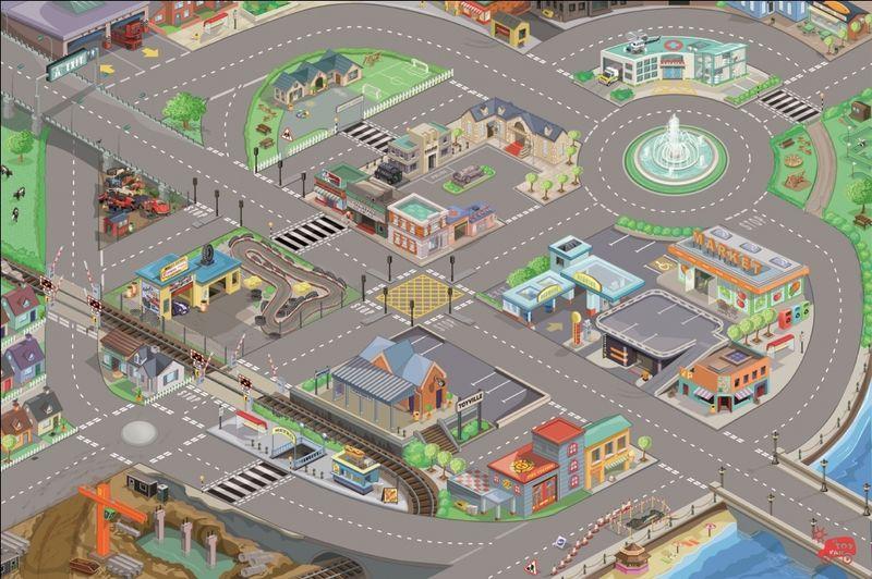 Tapis de jeux routes et ville