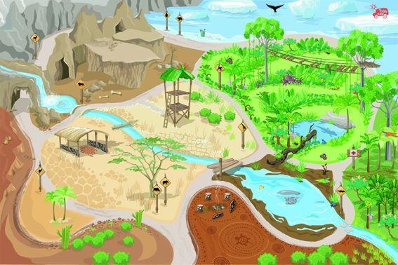 Tapis de jeux safari