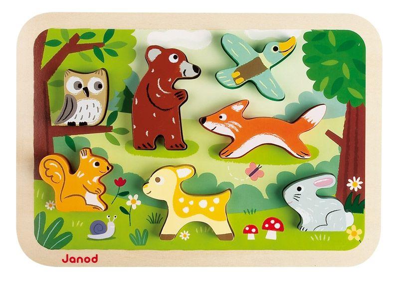 Puzzle 3d animaux de la forêt