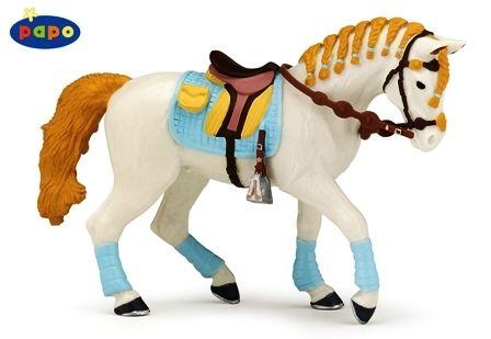 Cheval de la cavalière adulte fashion bleue