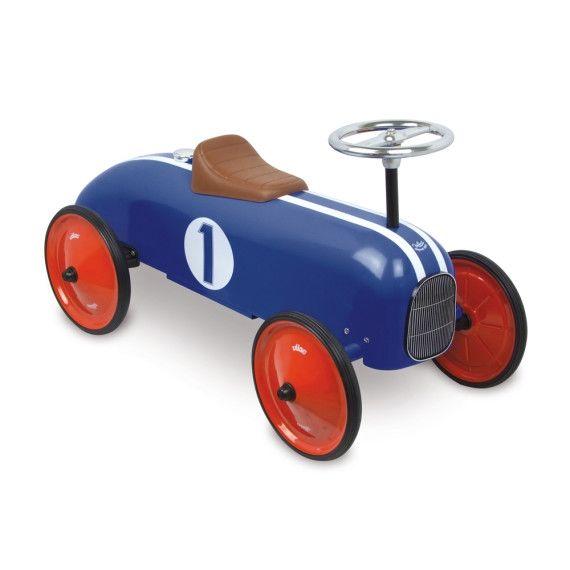 Porteur voiture en métal Bleu