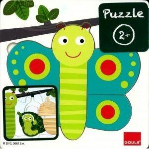 Puzzle 3 niveaux papillon