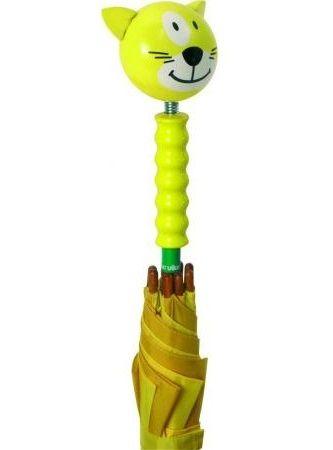 Parapluie Sacha le chat - jaune