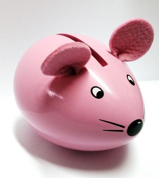 Tirelire Lisa la souris rose