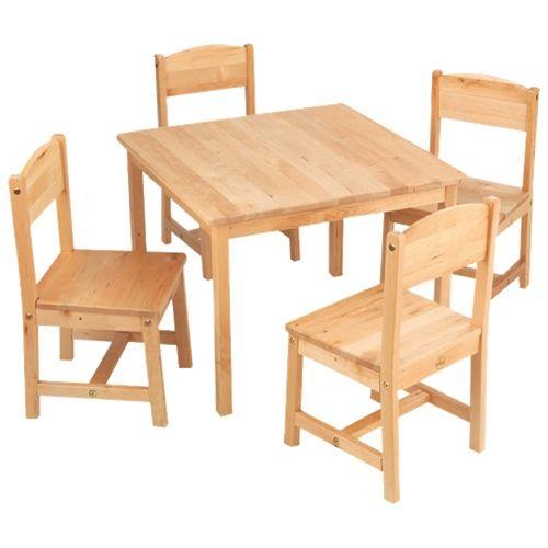 Table de ferme & chaises, naturel