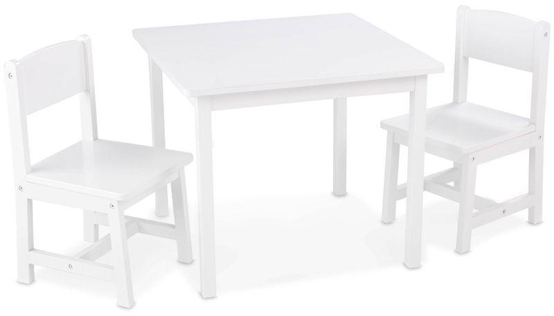 Table Et 2 chaises aspen - blanc