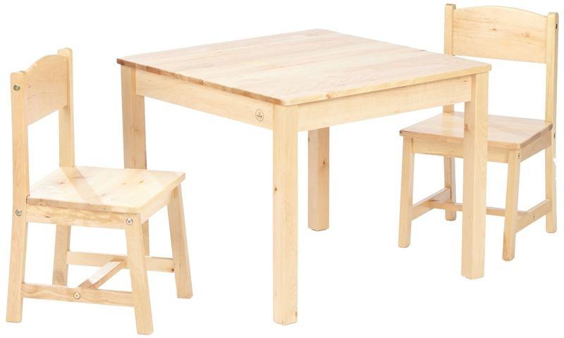 Table Et 2 chaises aspen - naturel
