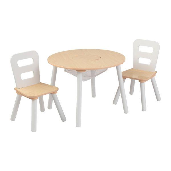 Table Ronde et ses deux chaises