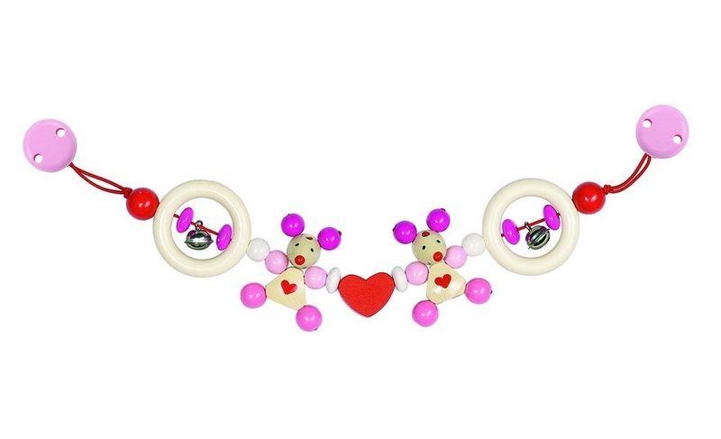 Chaîne Poussette souris rose