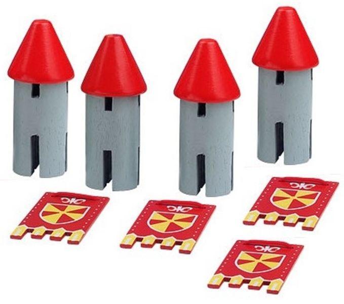 4 Tourelles rouges
