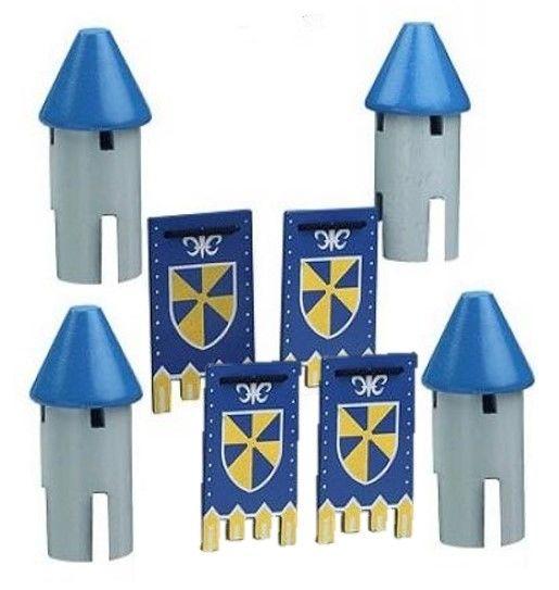 4 Tourelles bleues
