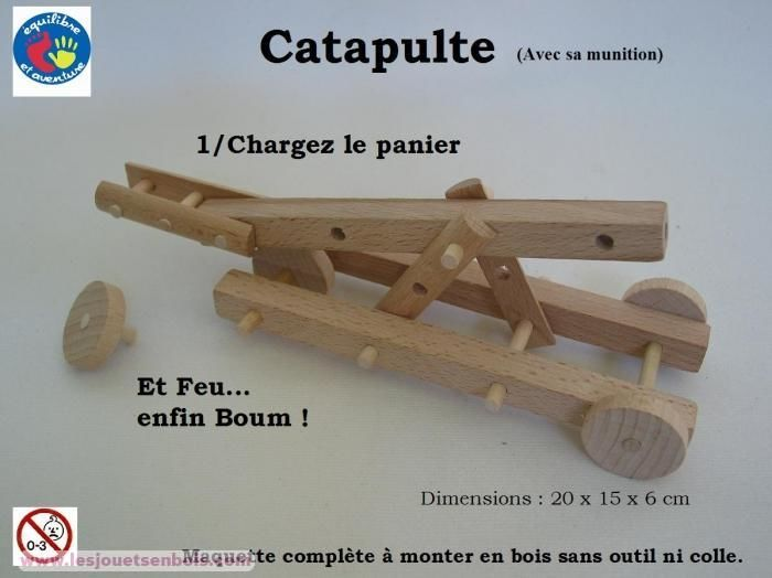 Catapulte Bois naturel