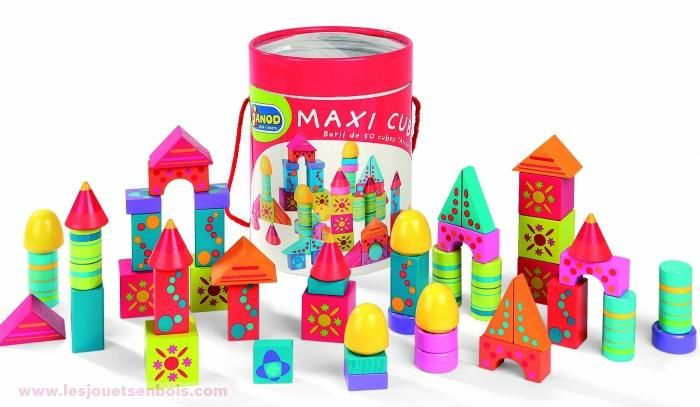 Baril Maxi cubes color