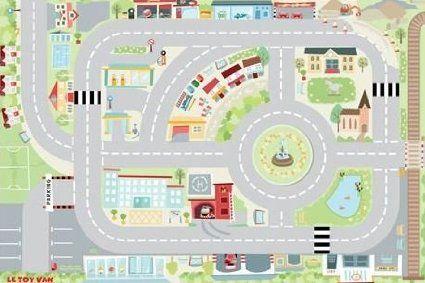 Tapis de jeux - ma première ville