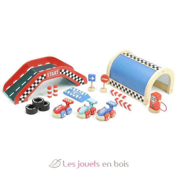 Garage En Bois Vilac : Grand circuit Vilacity 2354 – Un jouet Vilac pour enfant -