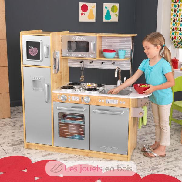 kidkraft cuisine uptown naturelle 53298 cuisine en bois pour enfant. Black Bedroom Furniture Sets. Home Design Ideas