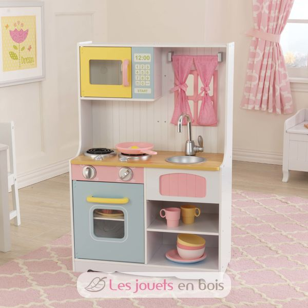 kidkraft 53354 cuisine pastel country jolie cuisine en bois pour enfant. Black Bedroom Furniture Sets. Home Design Ideas