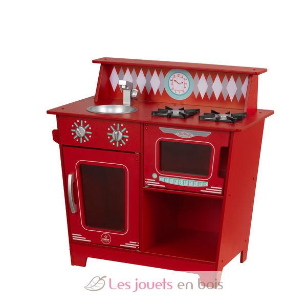 Kidkraft 53362 petite kitchenette rouge jolie cuisine en for Petite cuisine rouge