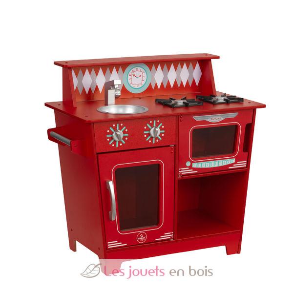 kidkraft 53362 petite kitchenette rouge jolie cuisine en bois pour enfant. Black Bedroom Furniture Sets. Home Design Ideas