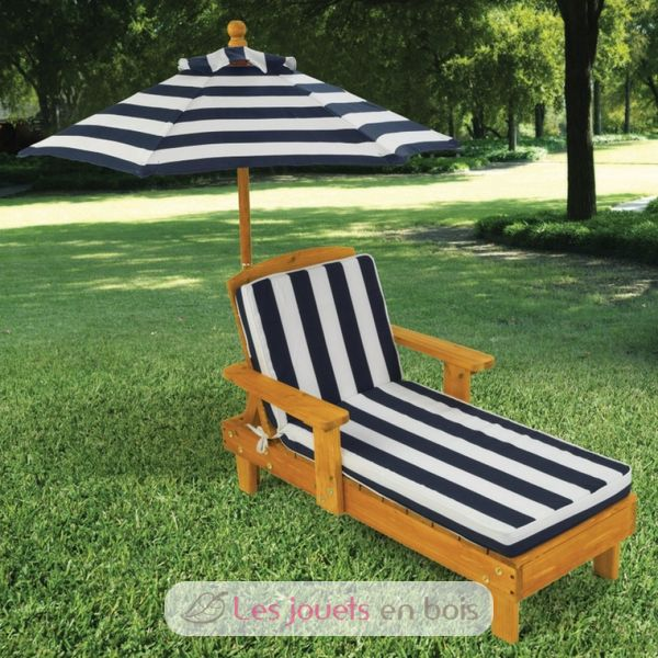 chaise d 39 ext rieur avec parasol kidkraft 00105 mobilier de jardin pour enfant. Black Bedroom Furniture Sets. Home Design Ideas