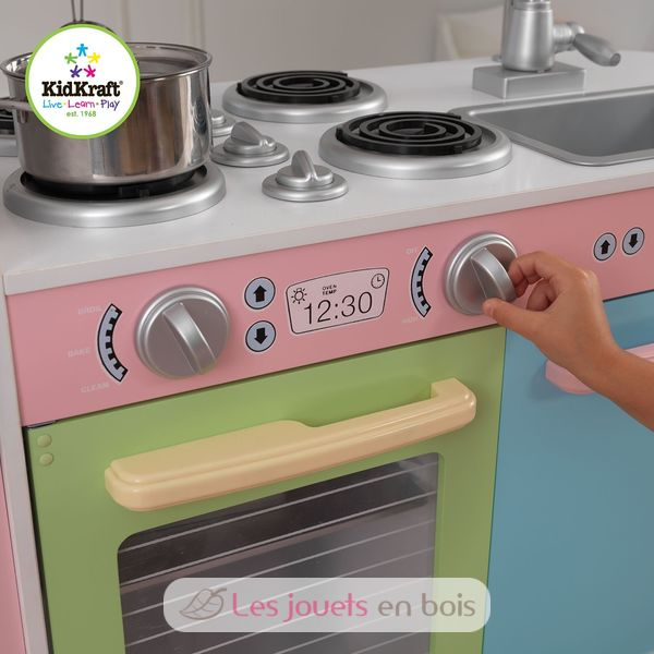 kidkraft cuisine uptown pastel 53257 cuisine en bois pour enfant. Black Bedroom Furniture Sets. Home Design Ideas