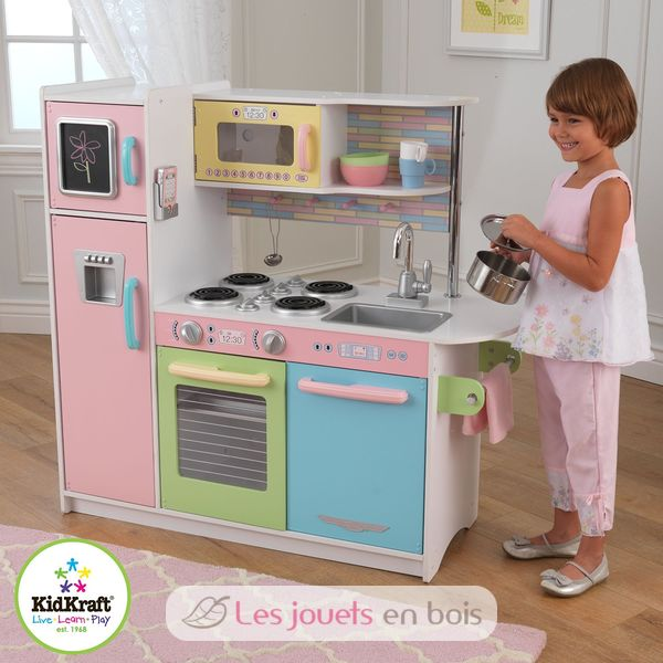 kidkraft cuisine uptown pastel 53257 cuisine en bois. Black Bedroom Furniture Sets. Home Design Ideas