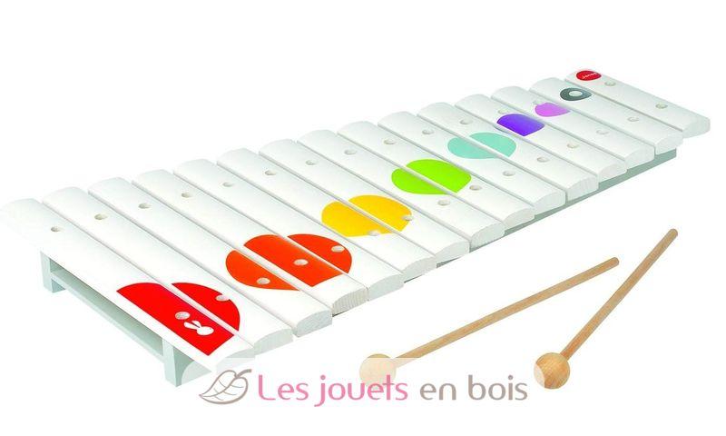 Janod (Les percussions) : Mini xylo bois Confetti