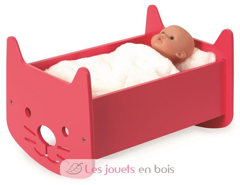 Berceau Bois Jouet : Berceau pour poup?es Babycat Janod J05897