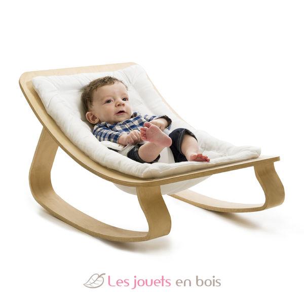 Transat pour bébé LEVO blanc, un mobilier design pour bébé  ~ Transat Bebe Bois