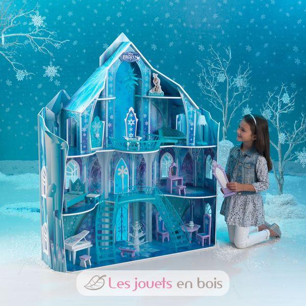 Manoir disney frozen snowflake kidkraft 65880 palais de for Chateau de glace reine des neiges
