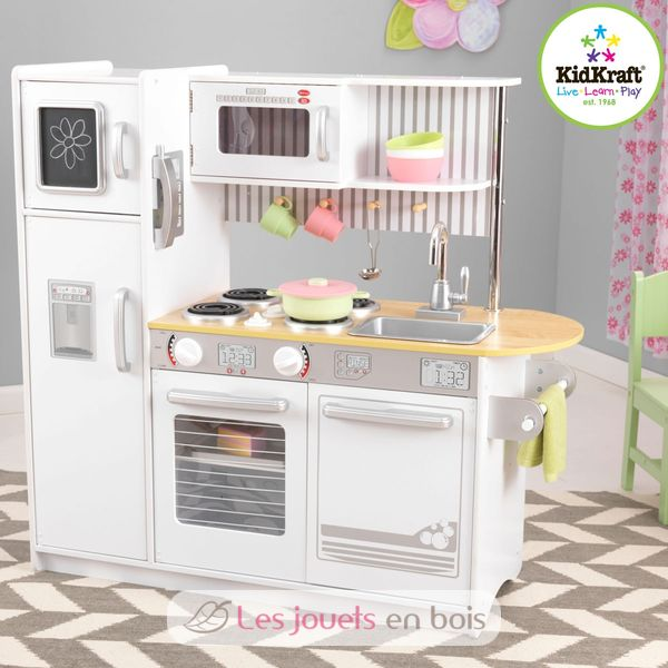 kidkraft cuisine uptown blanche 53335 en bois pour petite fille et petit gar on kidkraft. Black Bedroom Furniture Sets. Home Design Ideas