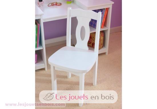 chaise de luxe kidkraft, du mobilier en bois blanc pour petites filles