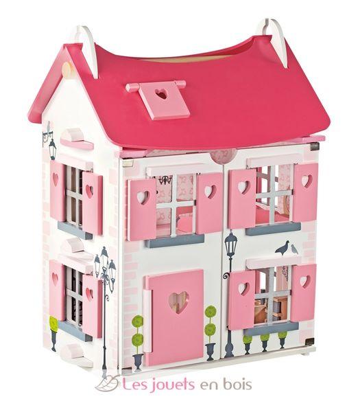 maison de poup es en bois janod le cadeau id al pour. Black Bedroom Furniture Sets. Home Design Ideas