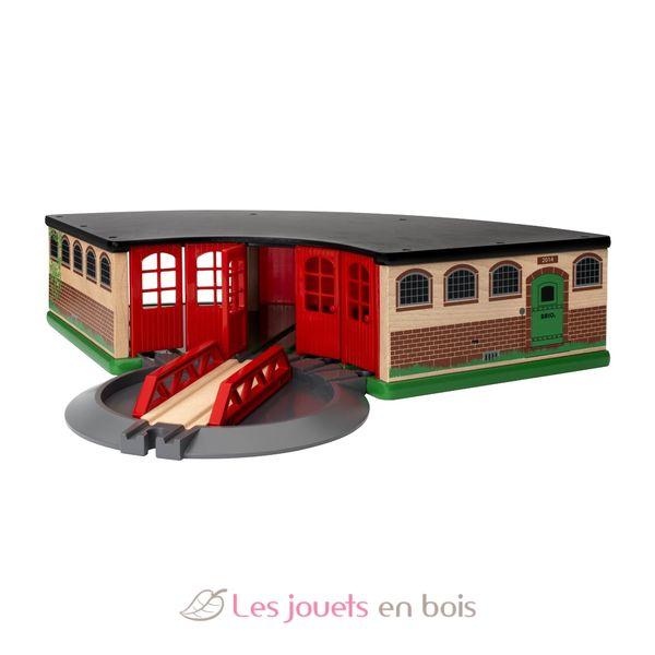 grande gare de triage brio 33736 en bois avec sa plaque. Black Bedroom Furniture Sets. Home Design Ideas