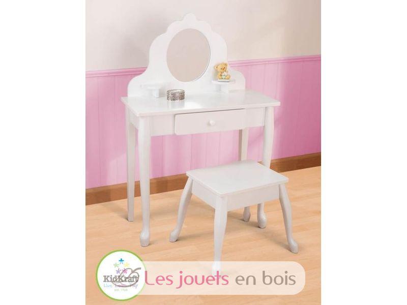 Coiffeuse et tabouret kidkraft du mobilier en bois blanc pour petite fille - Coiffeuse en bois pour petite fille ...