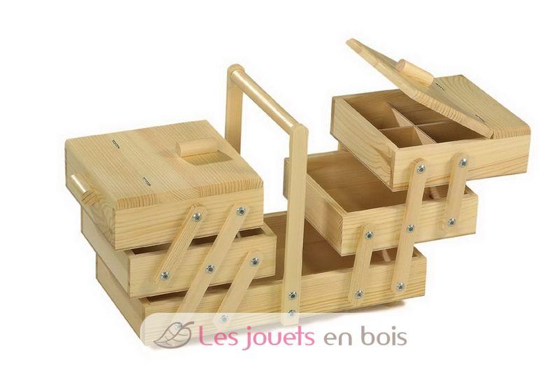 Travailleuse en bois pour enfant un kit en bois pour for Boite a couture en bois