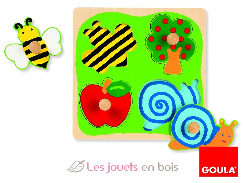 puzzle b b en bois abeille arbre pomme escargot sur ce. Black Bedroom Furniture Sets. Home Design Ideas