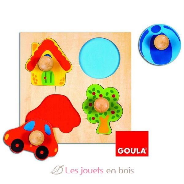 puzzle b b en bois maison ballon voiture sur ce puzzle b b en bois. Black Bedroom Furniture Sets. Home Design Ideas