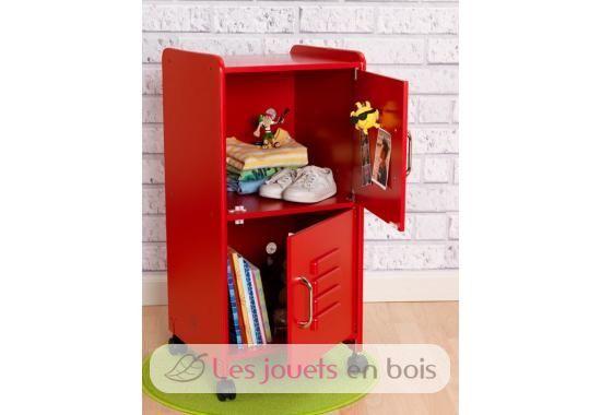 casier de rangement rouge kidkraft du mobilier pour chambre d 39 enfants. Black Bedroom Furniture Sets. Home Design Ideas