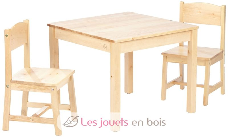 table et 2 chaises aspen kidkraft 21221 mobilier en bois pour enfant. Black Bedroom Furniture Sets. Home Design Ideas