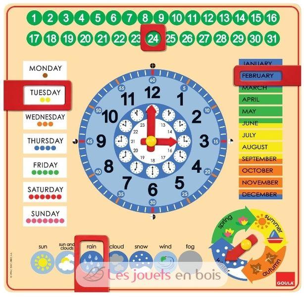 Horloge calendrier Goula Un jeu éducatif en bois pour enfant ~ Calendrier Bois Enfant