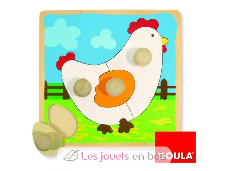puzzle poule goula offrez un puzzle en bois premier ge. Black Bedroom Furniture Sets. Home Design Ideas