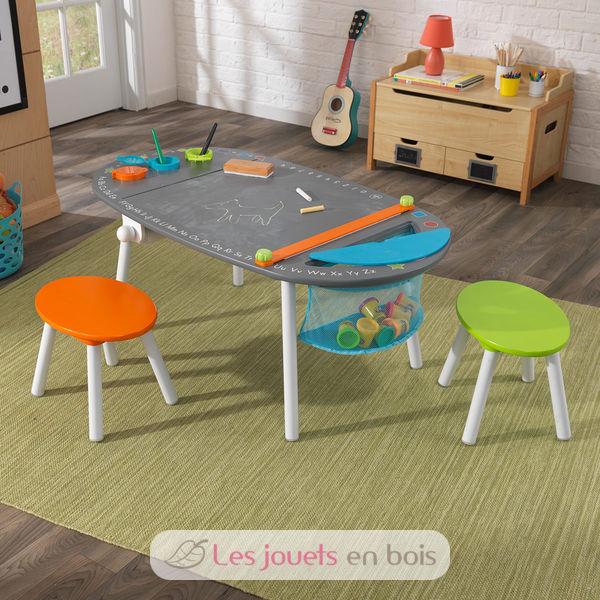 Kidkraft 26956 table dessin avec tabourets pour enfant for Dessin de table de jardin