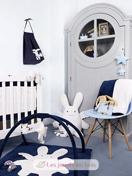 tapis d 39 eveil musical carr ange lapin marine trousselier tapis de jeu pour b b. Black Bedroom Furniture Sets. Home Design Ideas