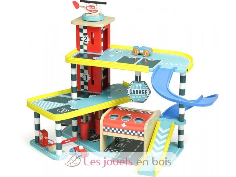 Garage vilacity en bois 2310 un jouet vilac pour enfant for Achat voiture garage dans le centre